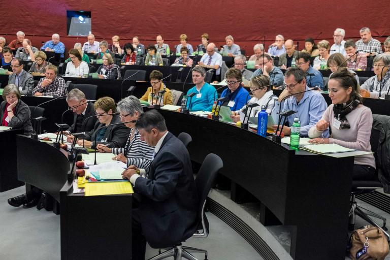 Die Synode, das Parlament der Landeskirche, tagt im Kantonsratssaal Luzern. | © 2014 Roberto Conciatori