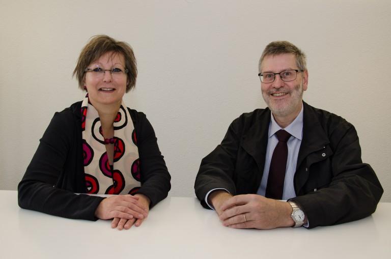 Renata Asal-Steger präsidiert 2016/17 den Synodalrat, Hans-Christoph Heim die Synode. | © 2015 Dominik Thali