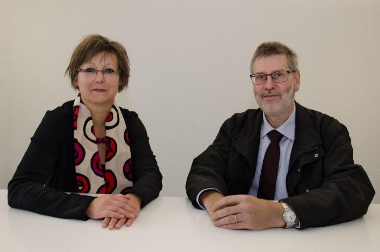 Sie führen die Landeskirche 2016 und 2017:  Synodalratspräsidentin Renata Asal-Steiger und Synodepräsident Hans-Christoph Heim. | © 2015 Dominik Thali