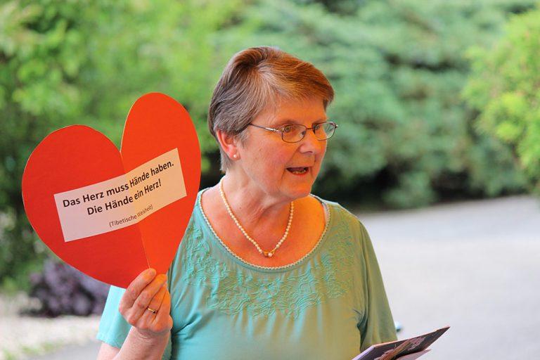 Seit vielen Jahren engagiert in der Behindertenbetreuung und Mit-Leiterin in den Delsberger Ferien- und Besinnungskursen: Marlis Rinert.