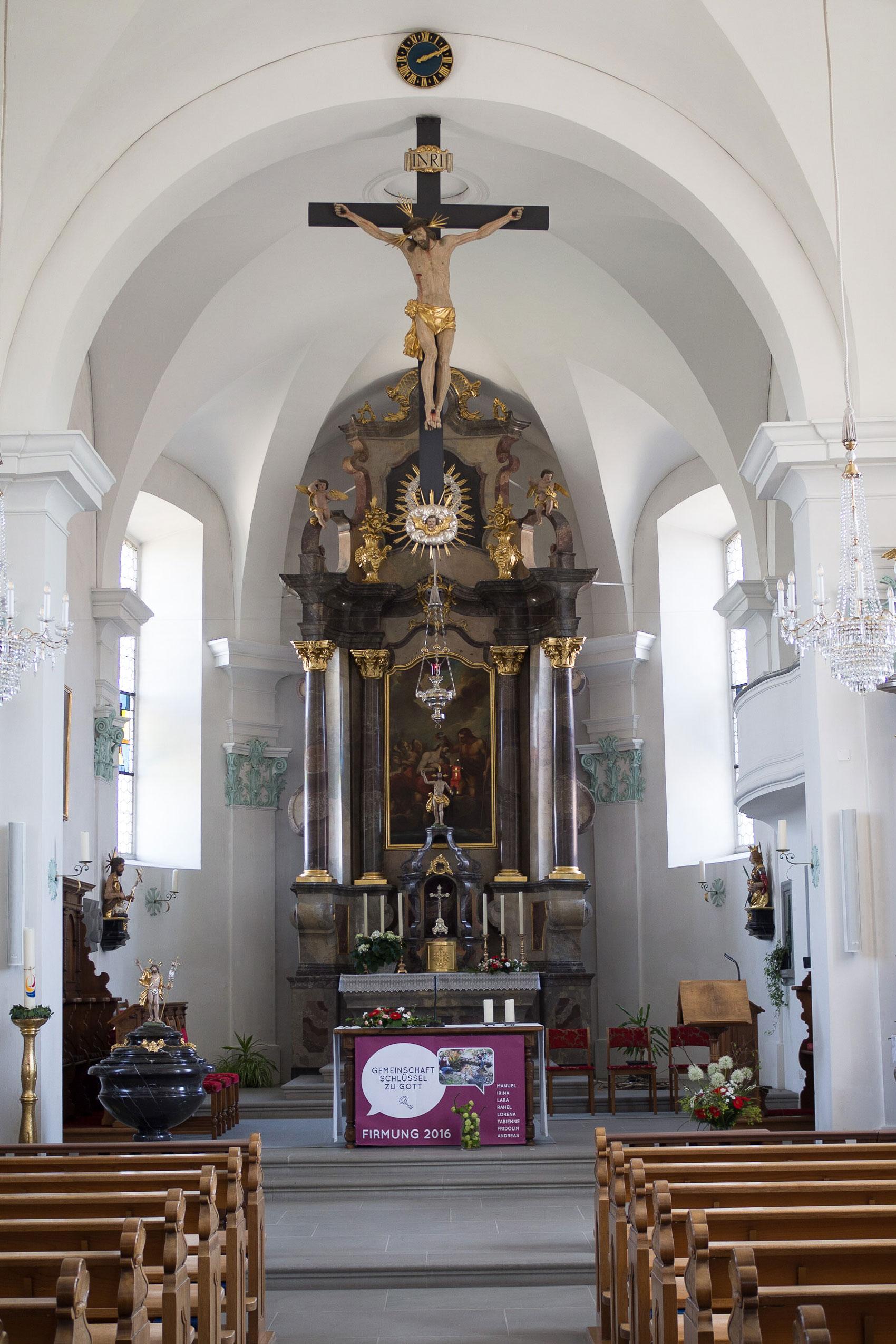Innen wurde die Ufhuser Pfarrkirche schon 2015 renoviert. © 2016 Gregor Gander