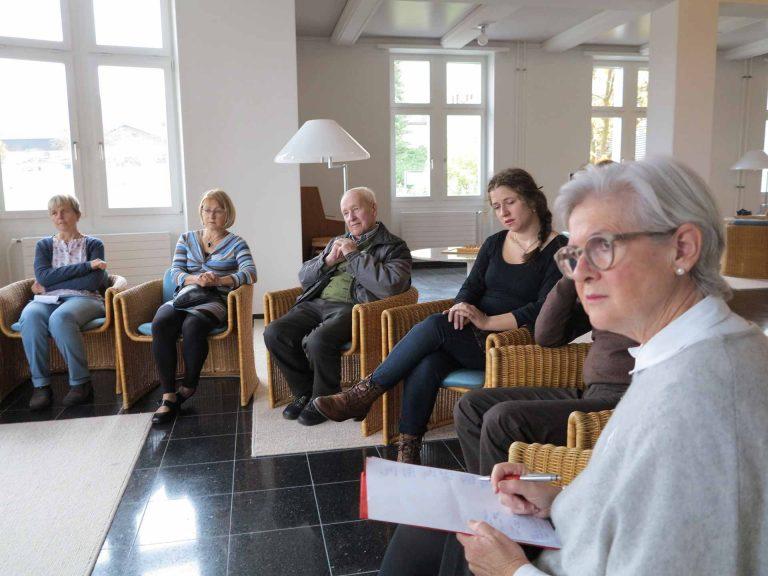 Im Workshop der ehemaligen Luzerner Regierungsrätin Yvonne Schärli (rechts). | © 2016 Walter Ludin