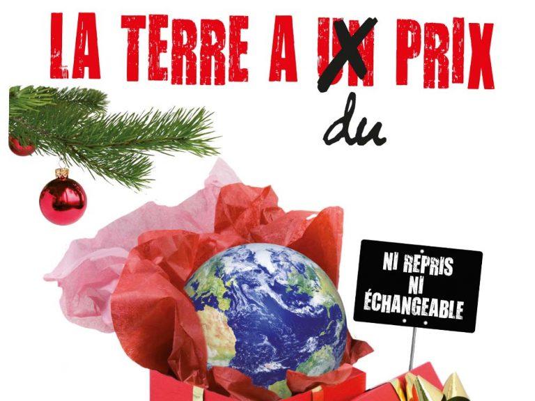 Die kirchliche Kampagne «Vivre noël autrement» regt in Frankreich jedes Jahr mit einem Plakat zum bewussten Feiern von Weihnachten an. | © Quelle: Kampagne Vivre autrement