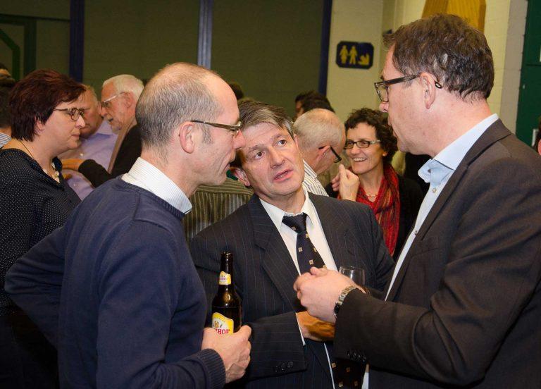 Von links: Thomas Odermatt (Kirchgemeindepräsident von Ballwil), Hans Burri (Synodalrat) und Michael Bussmann (Kirchgemeindepräsident von Horw). | © 2016 Dominik Thali