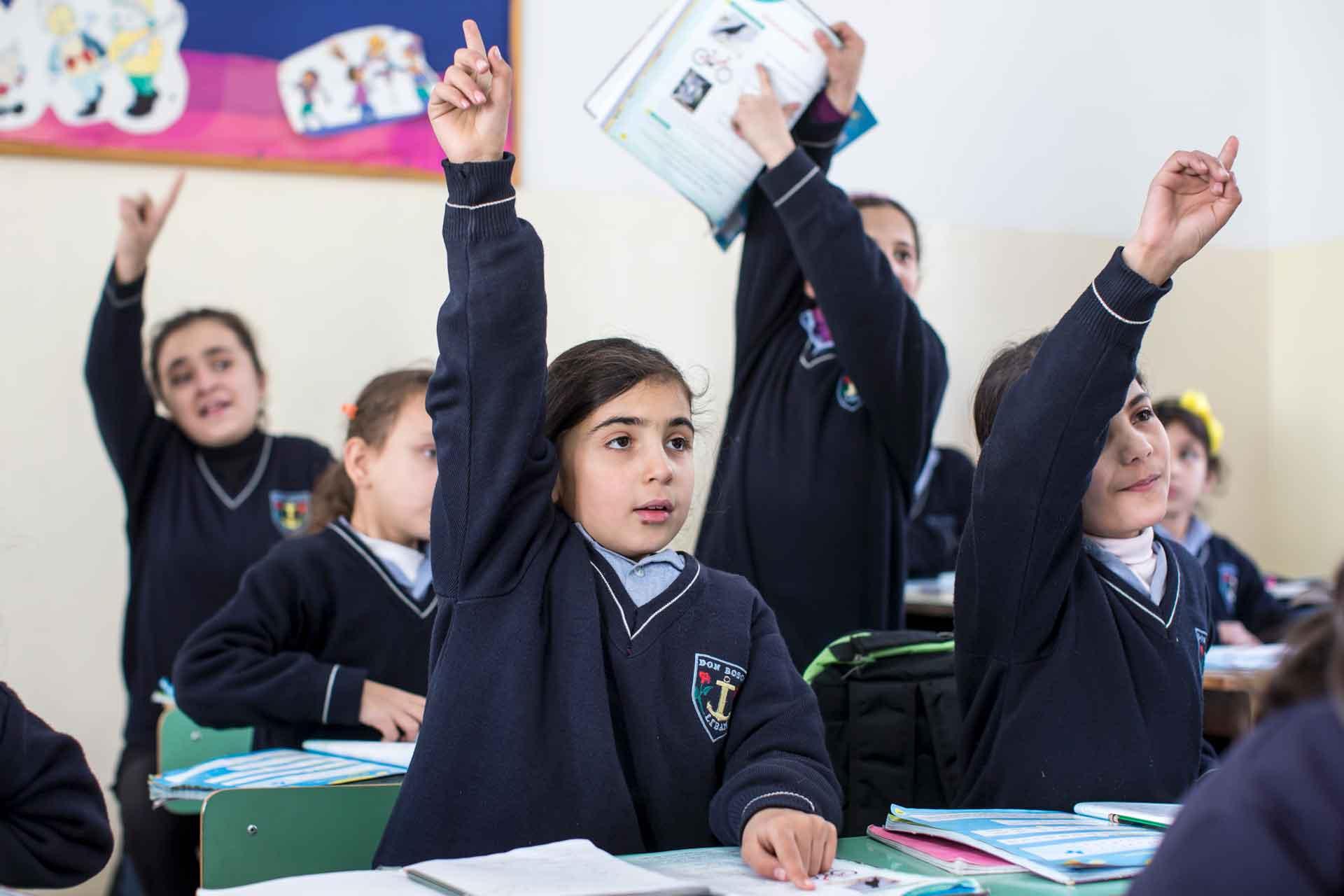 Bildung  ist die Grundlage für eine bessere Zukunft: Kinder in einem von der Caritas unterstützten Schule im Libanon. | © 2016 Alexandra Wey/Caritas Schweiz