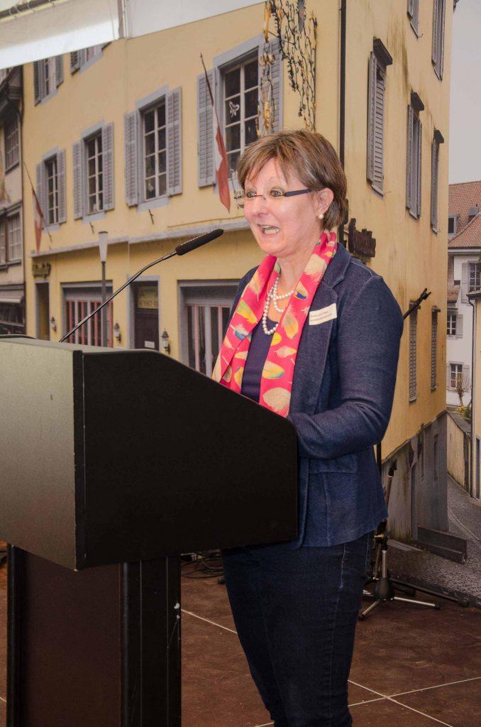 Synodalratspräsidentin Renata Asal-Steger bei ihrer Begrüssung am Behördentag.