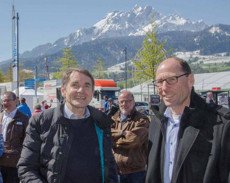Am Behördentag der katholischen Landeskirche am Samstag, 29. April: Synodalverwalter Edi Wigger (rechts) und Toni Kaufmann, Präsident der Kirchgemeinde Sursee.