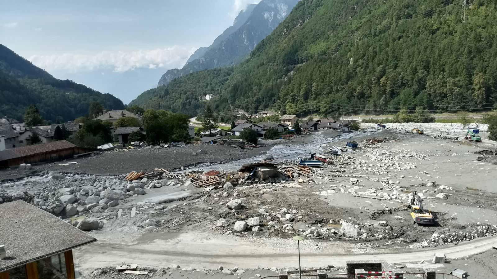 Verheerende Schäden, grosses menschliches Leid: Bondo nach dem Bergsturz und den Murgängen. | © 2017 Caritas Schweiz
