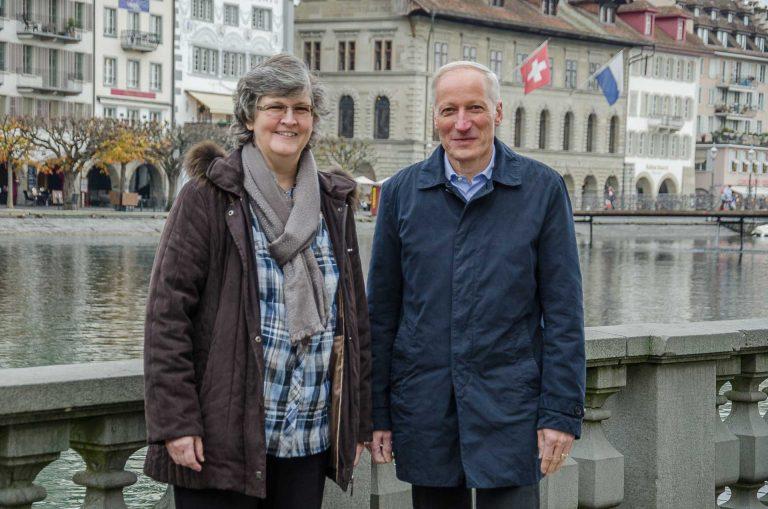 Die neue Synodespitze: Präsidentin Ursula Hüsler-Lichtsteiner und Virzepräsisdent Martin Barmettler. | © 2017 Dominik Thali