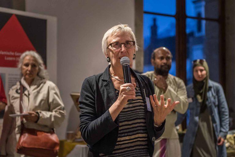 Der interreligiöse Dialog war ihr eine Herzensangelegenheit: Carmen Jud am Begegungsanlass «Unter einem Dach» vom 16. Mai 2017.   © 2017 Roberto Conciatori