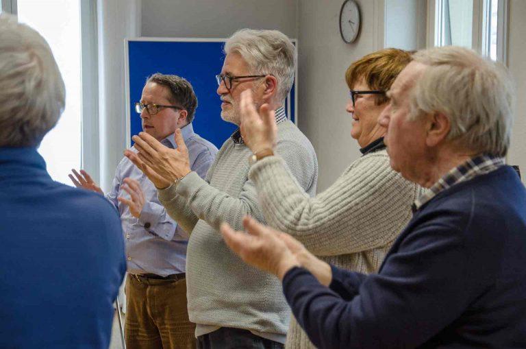 Teilnehmende am Kurs «Kirchliche Lieder mit Gebärden» vom 2. März | © 2018 Fleur Budry