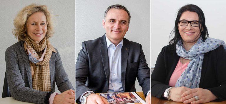 Olivia Portmann, Thomas Räber und Sandra Huber (von links) kandidieren für den Synodalrat. | © 2018 Dominik Thali / Norbert Bossart, Willisauer Bote