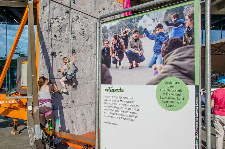 «Pfasyl» ist eines der drei Angebote, das von der Kletterwand-Sponsoringaktion profitiert,. | © 2018 Dominik Thali
