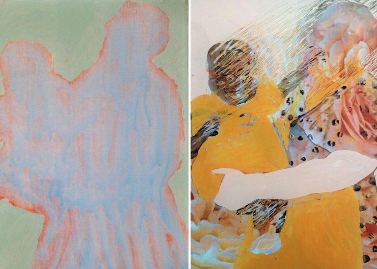Zwei Mutter-Kind-Darstellungen aus der aktuellen Ausstellung von Esther Wicki-Schallberger im Haus St. Agnes. | © 2018 Esther Wicki-Schallberger