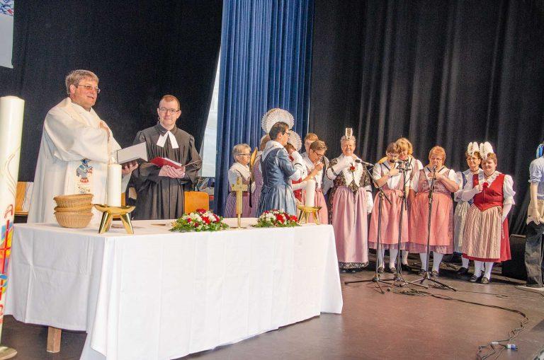 Am LUGA-Gottesdienst 2018, der erstmals auf der grossen Eventbühne stattfand. | © 2018 Dominik Thali