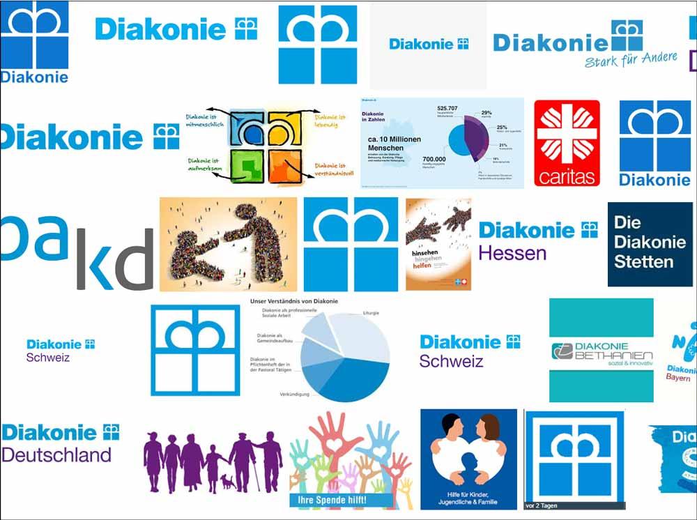 Bild: Screenshot (Google-Bildersuche zum Thema Diakonie)