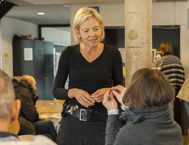 Franziska Reist in der Gassenküche. Sie wird im Oktober Gesamtleiterin des Vereins Kirchliche Gassenarbeit Luzern. | © 2018 pd