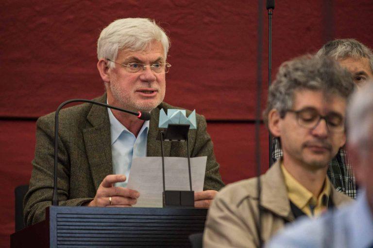 Rupert Lieb (Meggen), Präsident der Geschäftsprüfungskommission, empfahl den Voranschlag in deren Namen zur Annahme, | © 2018 Roberto Conciatori