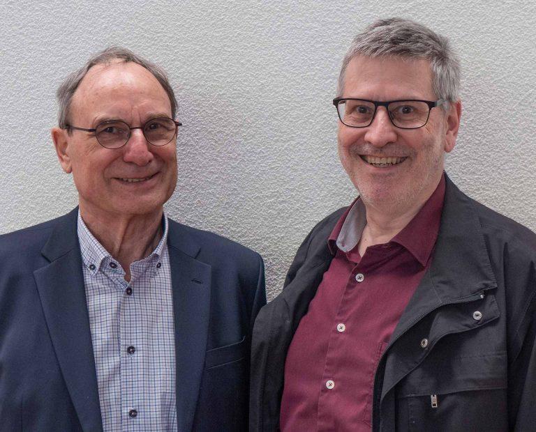 Willi Nick (links) hat das Präsidium des Pfarreiblattvereins Hans-Christoph Heim weitergegeben. | © 2019 Dominik Thali