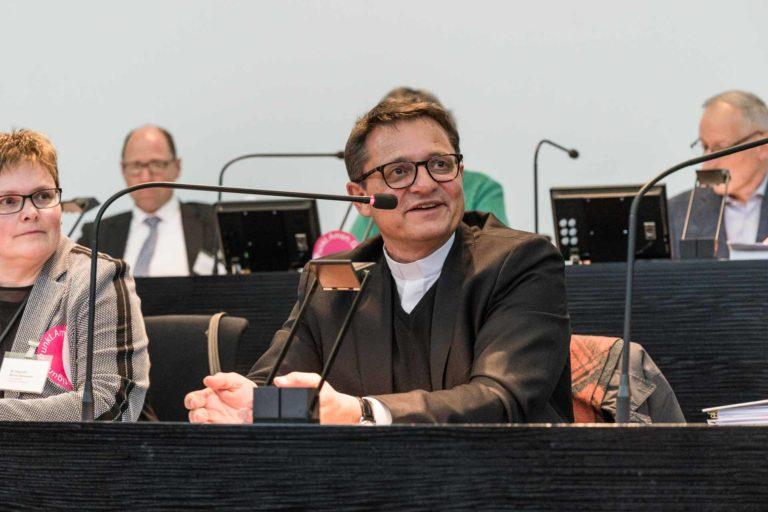 Bischof Felix Gmür, Synodalratspräsidentin Annegreth Bienz-Geisseler.| © 2019 Roberto Conciatori