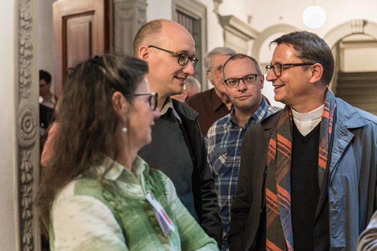 Bernadette Bircher (Luzern), David Rüegsegger (Rothenburg), Thomas Schmid (Egolzwil), Bischof Felix Gmür. | © 2019 Roberto Conciatori
