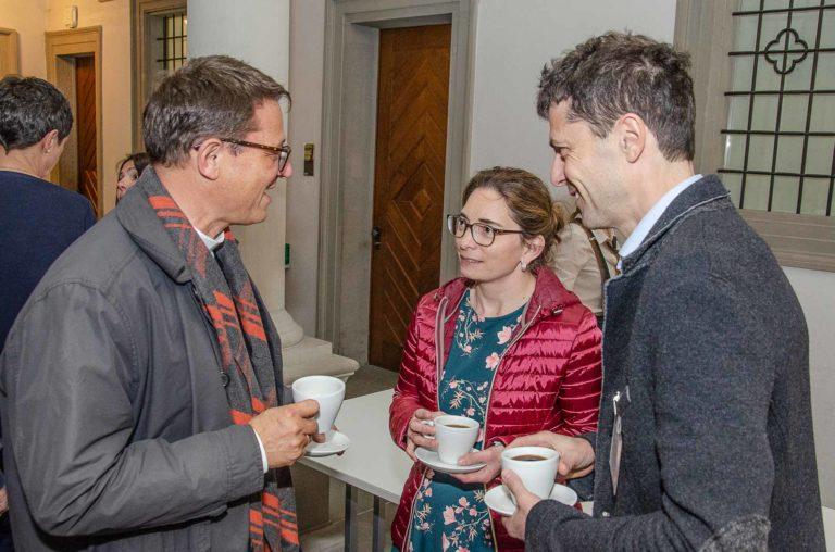 Der Bischof mit Susan Schärli (Beromünster) und Andreas Niederberger (Luzern). | © 2019 Dominik Thali