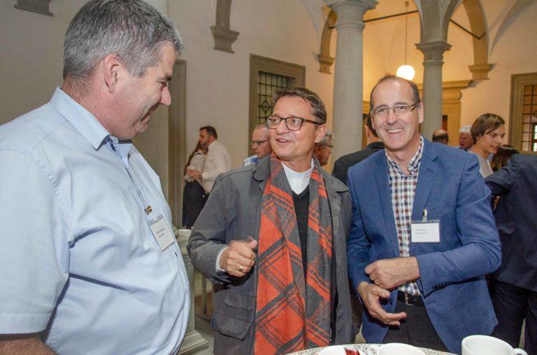 Bischof Felix Gmür mit Hugo Jung (Eschenbach, links) und Erich Hausheer (Rain). | © 2019 Dominik Thali