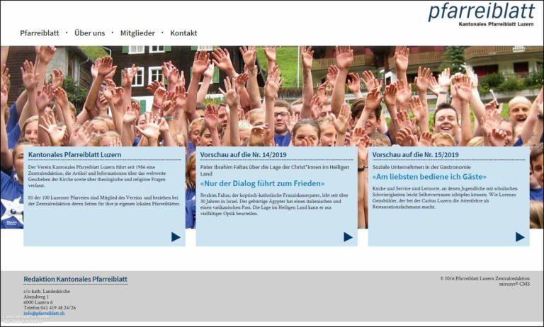 Bildschirmfoto von pfarreiblatt.ch