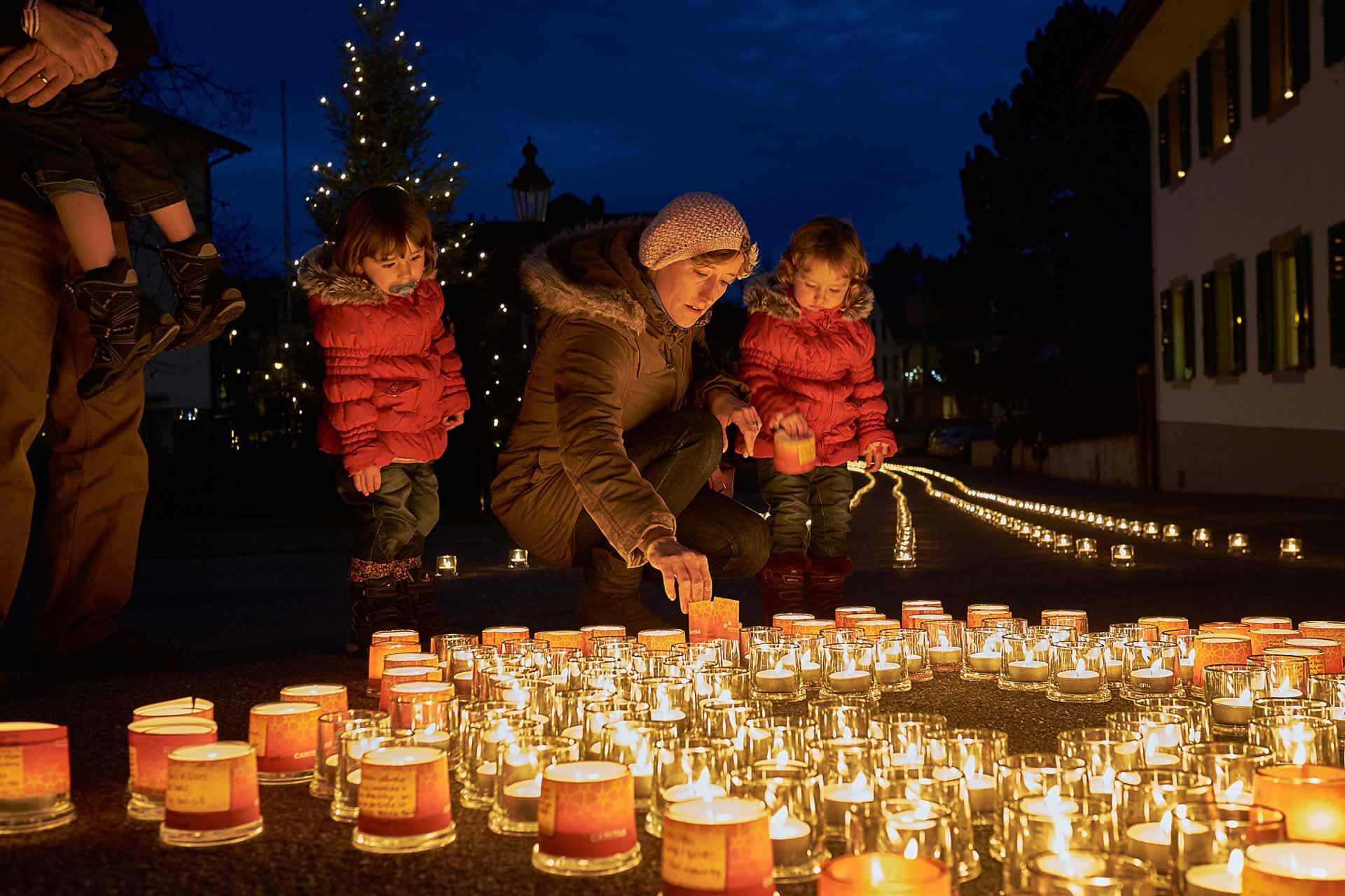 Lichter der Hoffnung für Menschen in Armut – zum Beispiel in Dagmersellen. | © 2015 Roberto Conciatori