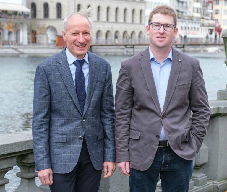 Martin Barmettler (links) präsidiert 2020 und 2021 die Synode, Benjamin Wigger ist Vizepräsident. | © 2019 Dominik Thali