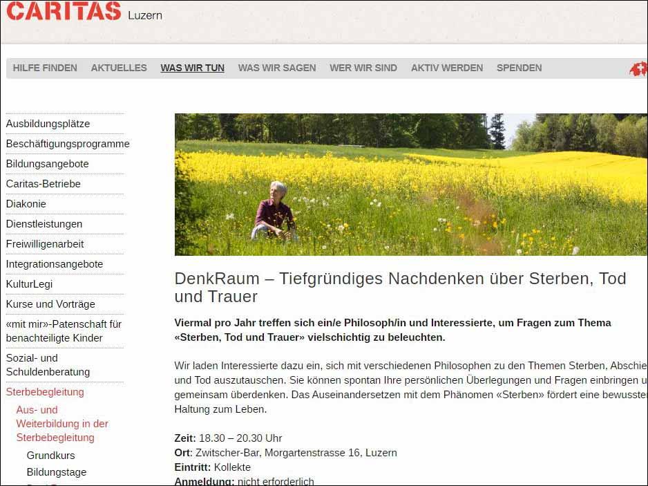 www.caritas-luzern.ch | Bildschirm-Foto