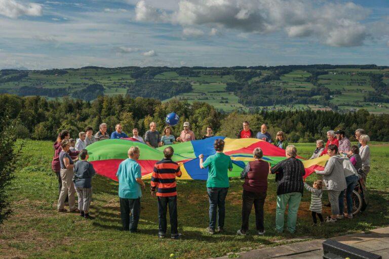 Im Wochenende für Menschen mit einer Behinderung im September 2018 auf dem Chlotisberg ob Gelfingen. | © 2018 Roberto Conciatori