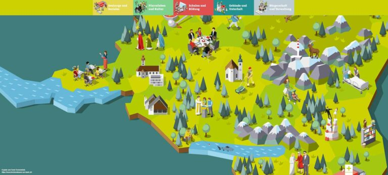 Ausschnitt aus der Karte auf der St. Galler Website kirche-kommt-an.ch. | Bildschirmaufnahme