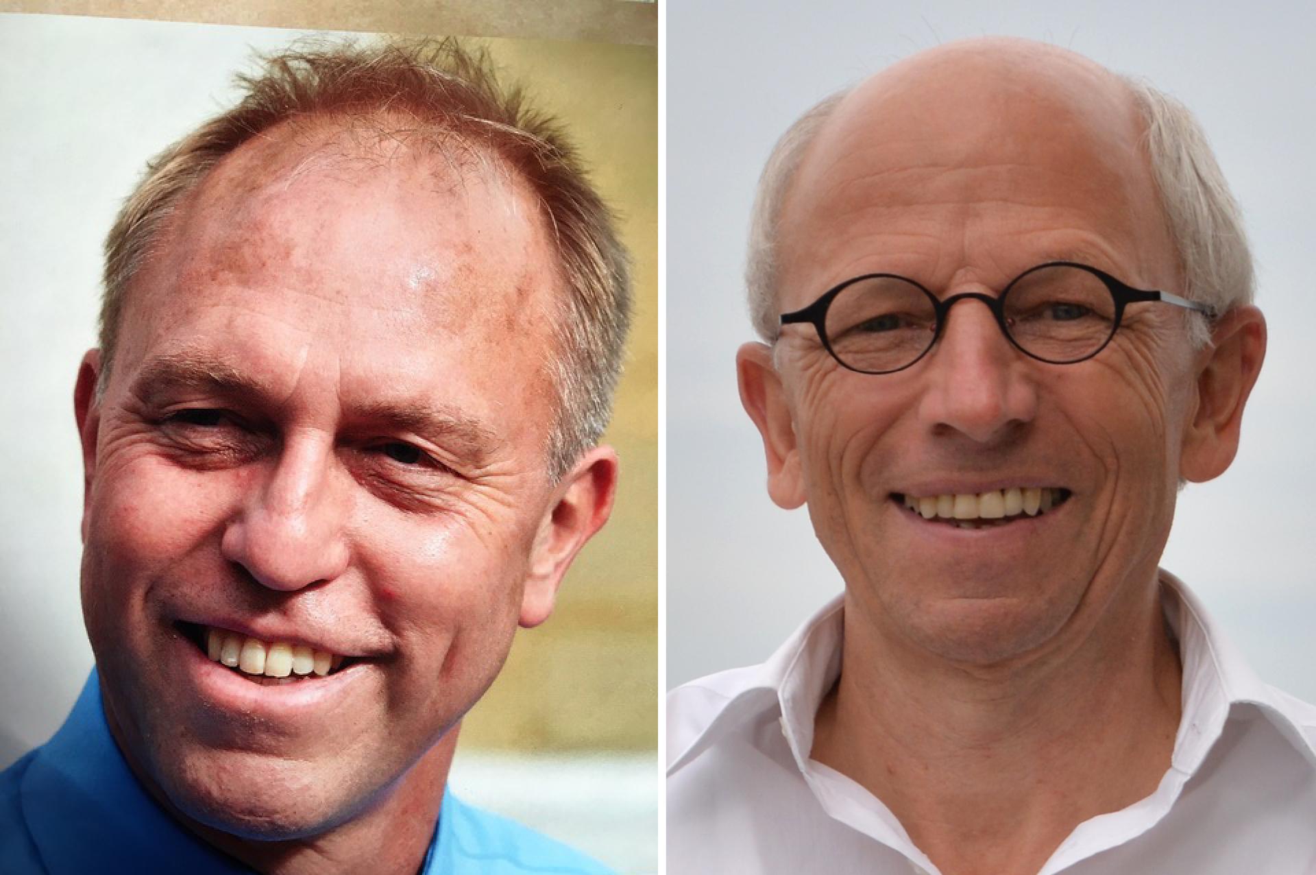 Fred Palm (links) wird am 1. Oktober Nachfolger von Robert Knüsel. | © 2020 pd/lukath