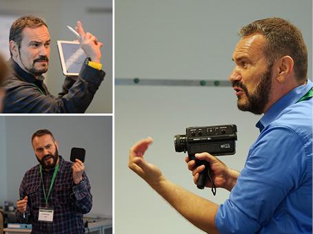 Mit der alten Super-8-Kamera gehts zwar auch noch. Smartphone und Tablet vereinfachen das Filmen und Schneiden aber doch sehr, meint Ivo Loretz. | Bilder: pd