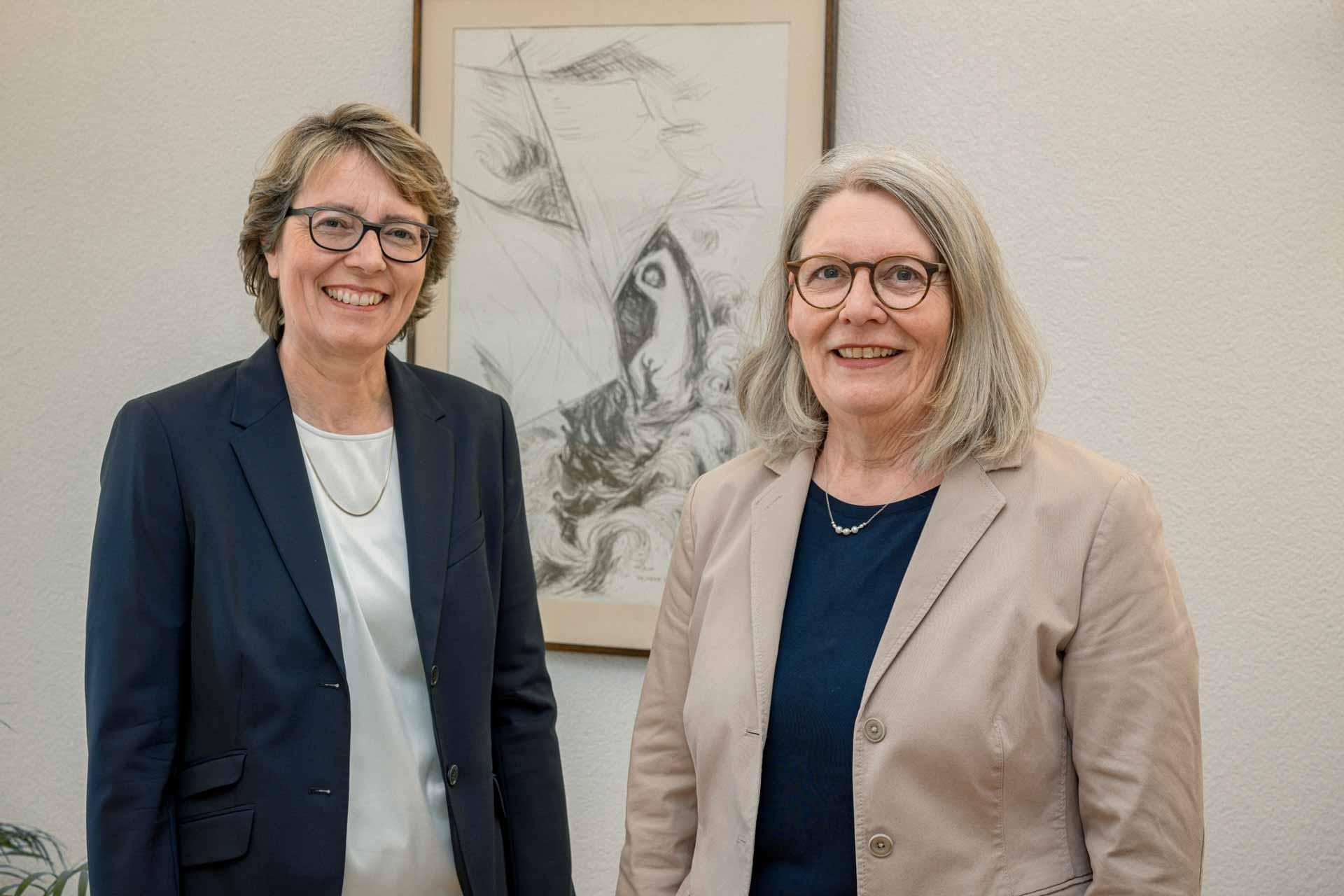 Brigitte Glur-Schüpfer (links) wird in der Bistumsregionalleitung Nachfolgerin von Margrith Mühlebach-Scheiwiller. | © 2020  Roberto Conciatori
