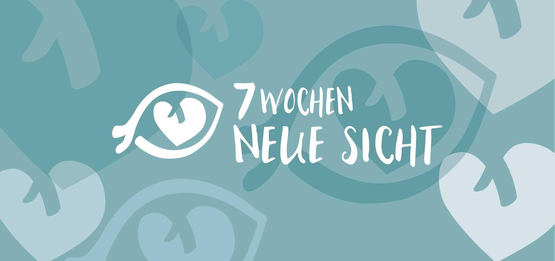 Ein Auge, wer genau hinschaut, entdeckt auch ein Herz darin: Die Postkarte zur Fastenzeitaktion für Paare 2021. | Illustration: pd