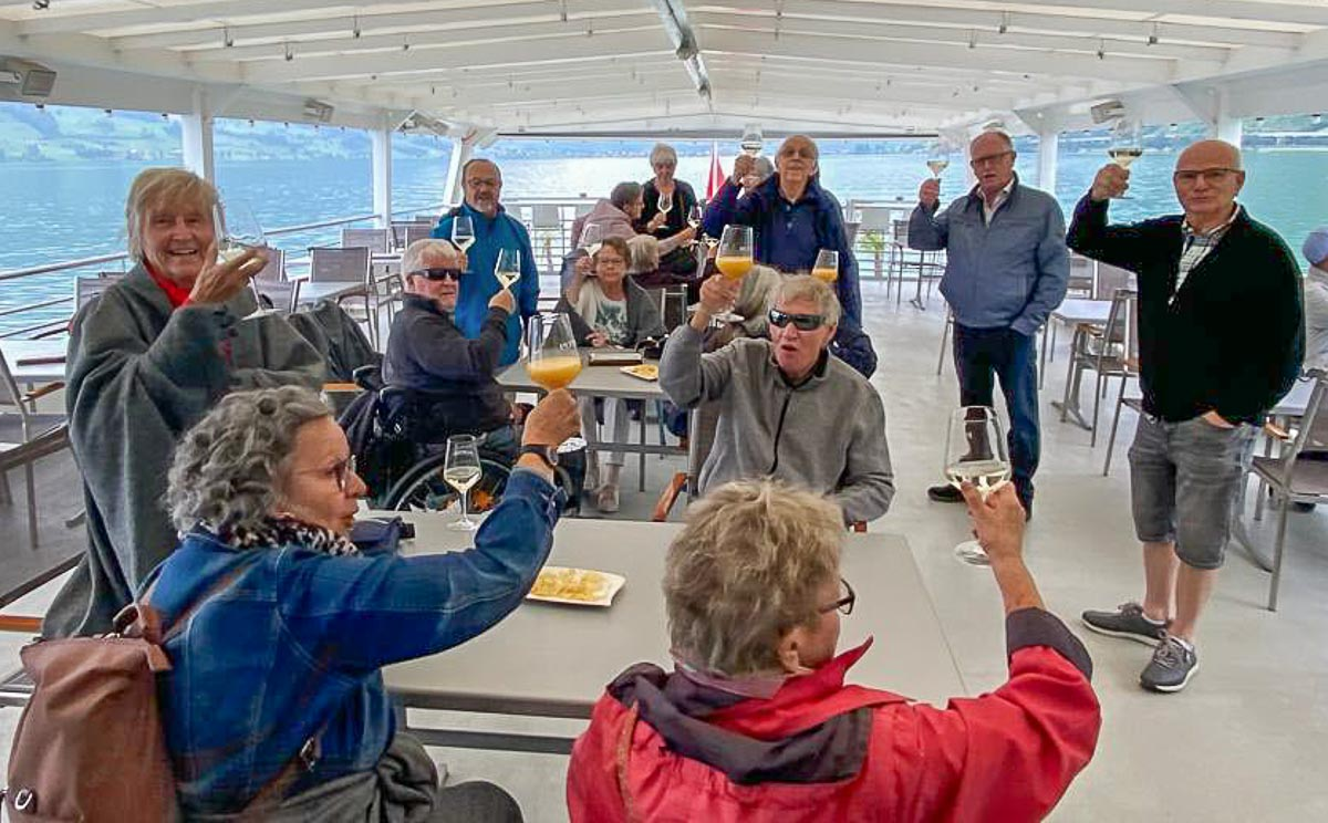 Schiff ahoi! Am Ausflug der Gehörlosen auf dem Zugersee am 17. August. | © 2021 zVg