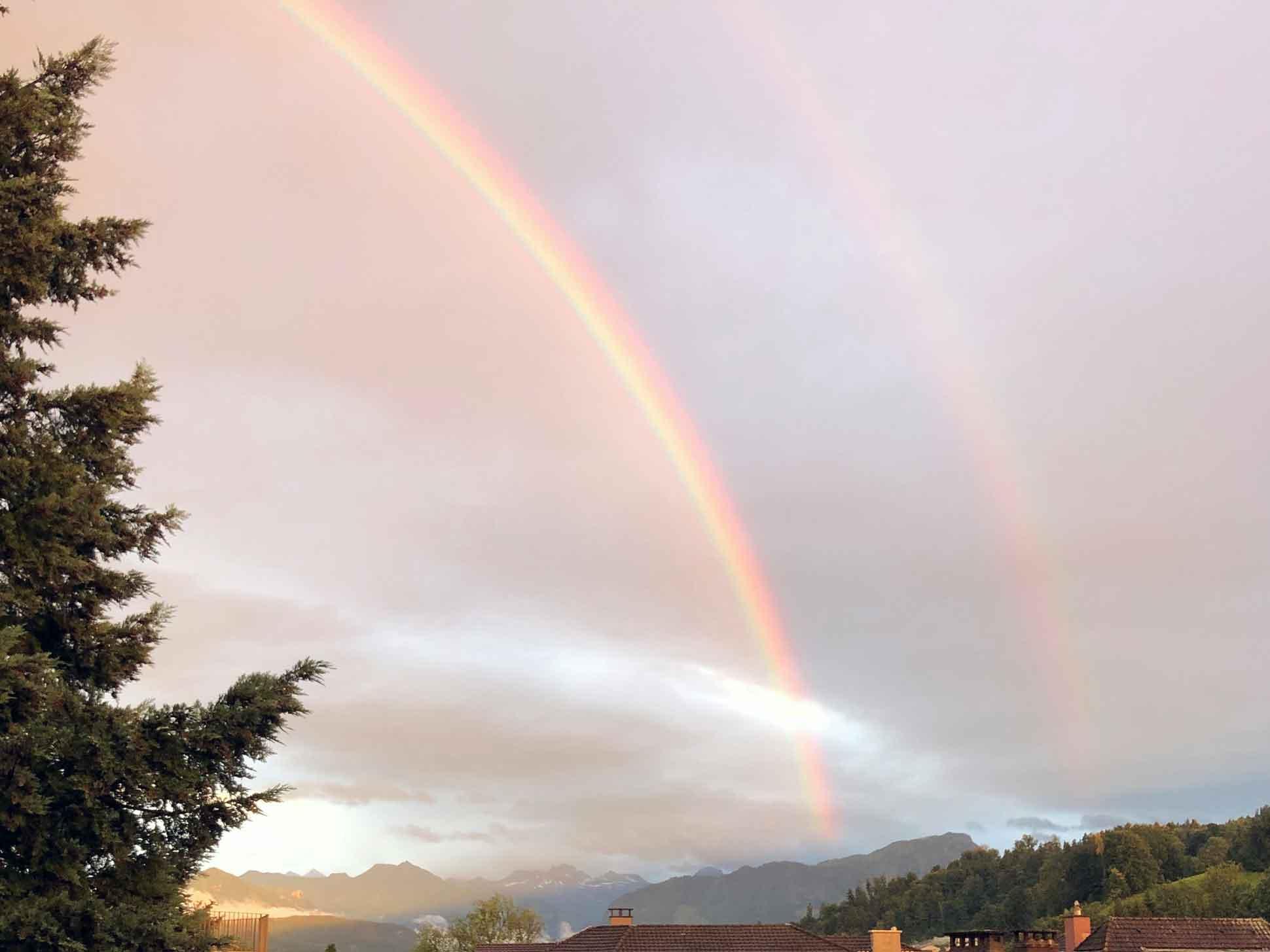 Regenbogen über Kriens   © 2021 Fleur Budry